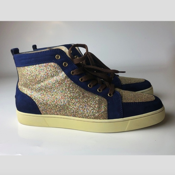factory authentic 371d3 df823 Christian Louboutin Rantus Indigo MEN Sneakers 45
